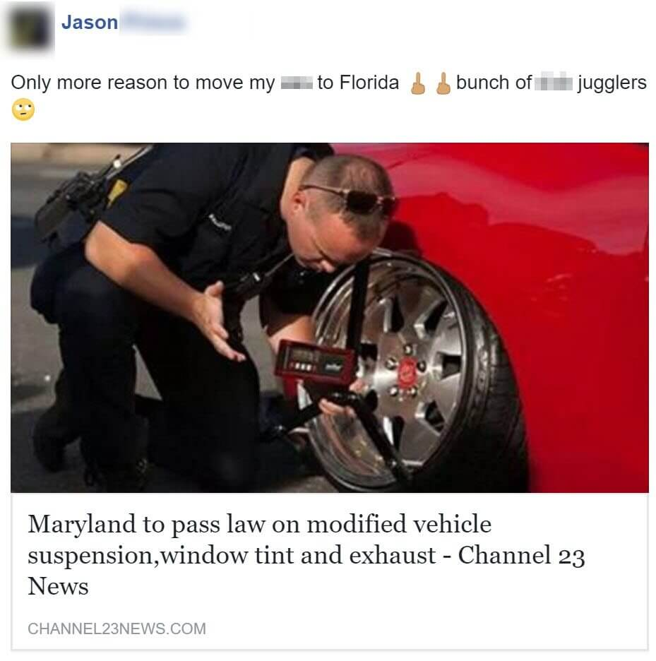 "Fake News? ""Maryland\'s cracking down on Modified Vehicle Suspension ..."